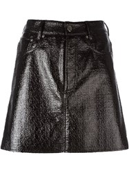 Maison Martin Margiela Mm6 Coated Mini Skirt Black
