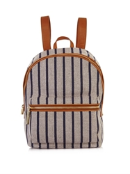 Elizabeth And James Cynnie Striped Woven Backpack
