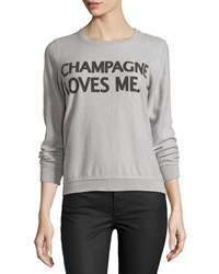 Chaser Champagne Loves Me Fleece Pullover Platinum White