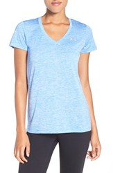 Under Armour Women's 'Twisted Tech' Tee Water Metallic Silver