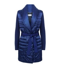 Escada Sport Moskau Quilted Bodywarmer Jacket Female Blue