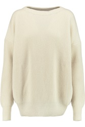 Tomas Maier Ribbed Knit Cashmere Sweater White