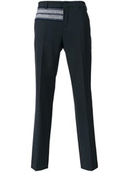 Carven Embroidered Detail Trousers Black