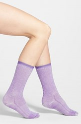 Women's Wigwam Merino Wool Blend Crew Socks Purple Summit