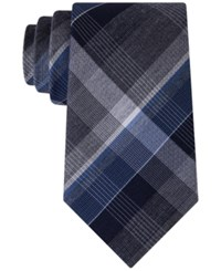 Kenneth Cole Reaction Men's Perfect Plaid Tie Navy