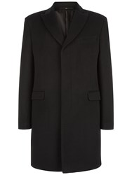 Jaeger Wool Cashmere Lined Overcoat Black
