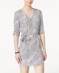 Xoxo Juniors' Printed Strap Cutout Zipper Placket Shirtdress