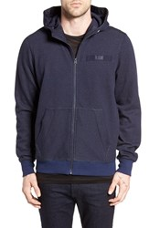 G Star Men's Raw 'Core' Zip Hoodie Dark Saru Blue Heather