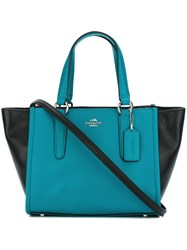 Coach Colour Block Shoulder Bag Blue