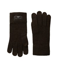 Ugg Tech Glove Brushed Lining Stout Heather Wool Gloves Brown