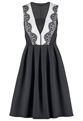 Anna Field Summer Dress Black White