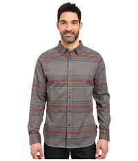 The North Face Long Sleeve Approach Flannel Tnf Medium Grey Heather Men's Clothing Gray