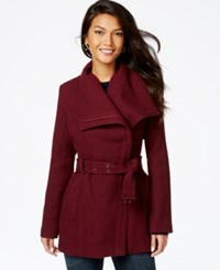 Madden Girl Madden Girl Textured Asymmetrical Walker Coat Merlot