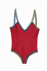 Kiini Soley Scoop Back One Piece Red