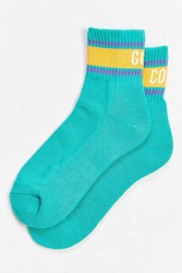 Urban Outfitters Gold Coast Ankle Sock Teal