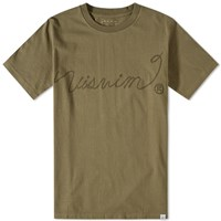 Visvim Sketch Vintage Ropes Tee Green