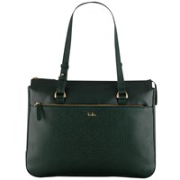 Tula Rye Leather Tote Bag Green
