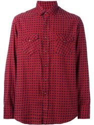Salvatore Piccolo Checked Shirt Red