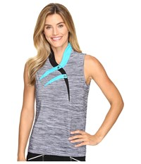 Jamie Sadock Marled Knit Sleeveless Top Curasao Women's Sleeveless Blue