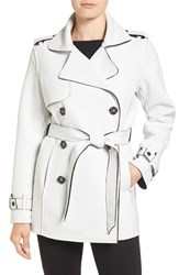 Kristen Blake Women's Raw Edge Short Trench Coat