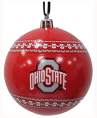 Memory Company Ohio State Buckeyes Ugly Sweater Ball Ornament Red