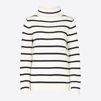 Armor Lux Navy Striped Turtle Neck Sweater