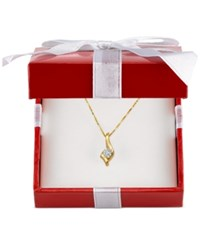 Sirena Diamond Twist Pendant Necklace 1 4 Ct. T.W. In 14K Gold White Or Rose Gold Yellow Gold