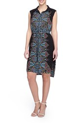 Tahari Women's Paisley Print Shirt Dress