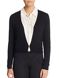 Hugo Boss Virgin Wool Cardigan Black