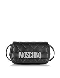Moschino Black Quilted Nappa Leather Crossbody Bag