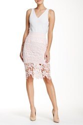 Lily White Lace Skirt Pink