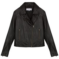 Gerard Darel Cannelle Leather Jacket Black
