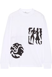 Toga Printed Cotton Jersey Top White