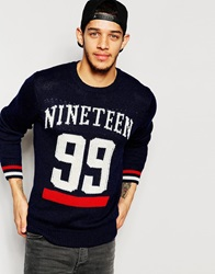 Izzue Nineteen Knitted Jumper Navy