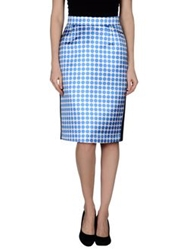 Emanuel Ungaro Knee Length Skirts Blue
