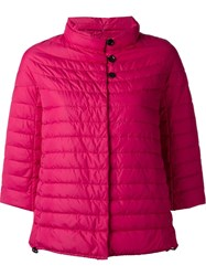 Duvetica Cropped Sleeves Jacket Pink And Purple