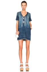 Current Elliott All Laced Up Dress In Blue