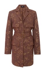 Paule Ka Palm Tree Jacquard Coat Print