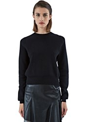 Rick Owens Biker Lupetto Thick Long Sleeved Knit Sweater Black