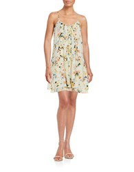 Sanctuary Floral Pleated Shift Dress Summer Field
