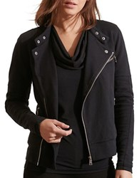 Lauren Ralph Lauren French Terry Moto Jacket Black