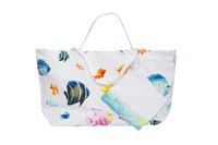 Marinette Saint Tropez Bahamas Multi Shopping Bag White