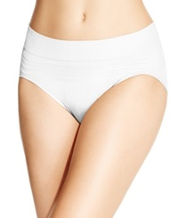 Warner's No Pinches No Problems Striped High Cut Brief Rt5501p White