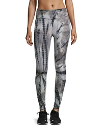 The Balance Collection Tie Dye Flat Waist Leggings Black