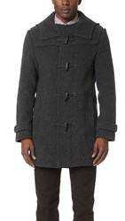 Carven Hooded Duffle Coat Anthracite