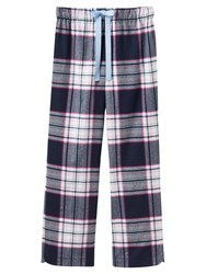 Joules Fleur Checked Flannel Pyjama Bottoms Navy Multi