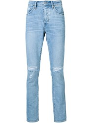 Neuw Ripped Knee Jeans Blue