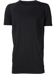 Devoa Raglan Panel T Shirt Black