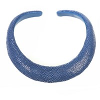 Latelita London Stingray Sculptural Necklace Royal Blue