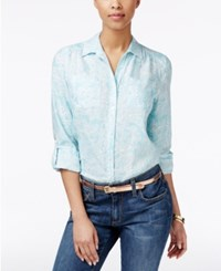 Charter Club Paisley Print Shirt Only At Macy's Angel Blue